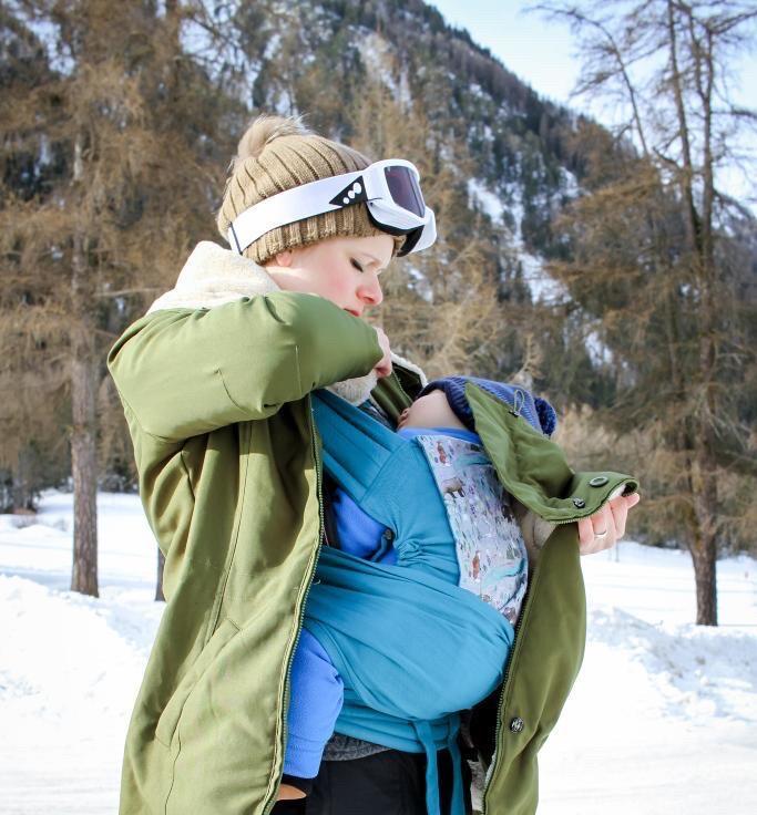 Le portage en hiver, par temps frais ouventeux